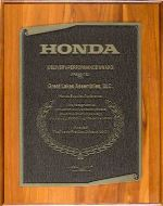 GLA RECEIVES HONDA AWARD