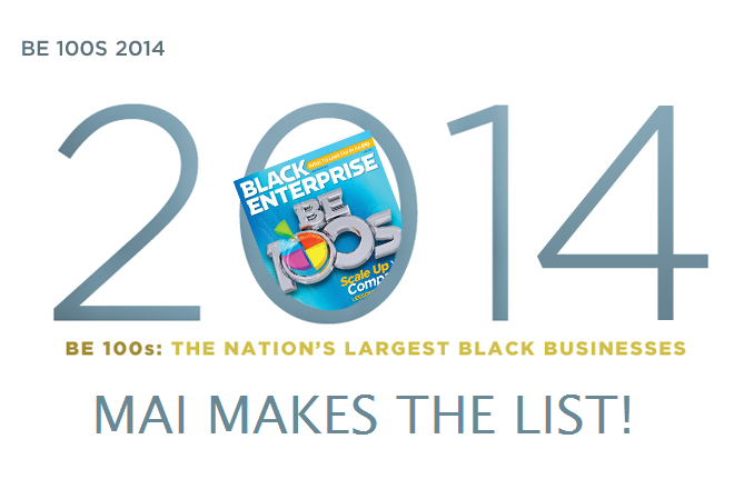 MAI #4 on Black Enterprise's Top 100 Black Businesses in the Nation